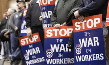 US unions protest 2011