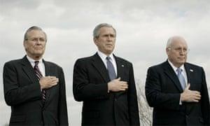 Donald Rumsfeld, George Bush, Dick Cheney in 2006