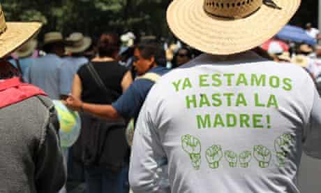 Javier Sicilia's anti-drug protest in Mexico August 2011