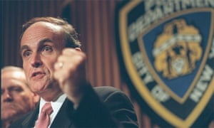 Rudi Giuliani, New York mayor, in 1997