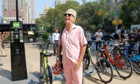 David Byrne welcoming NYC's new bike share program