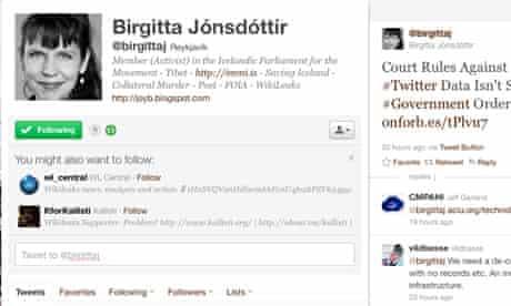 Birgitta Jónsdóttir's Twitter account