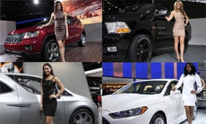 Models at the Detroit Auto Show, 2012