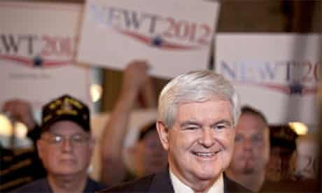 Newt Gingrich campaigning in Spartanburg, SC