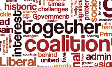 Wordle of Cameron and Clegg's statements