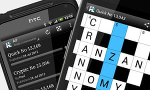 Android crossword app