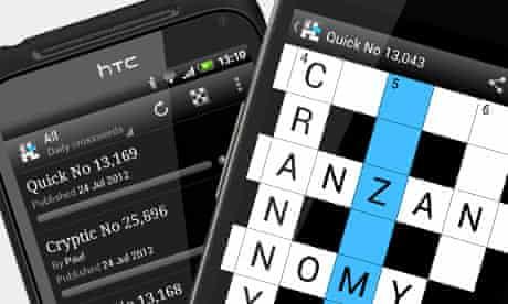 Android crossword app