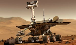 eploration rover on surface of mars