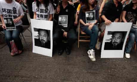 Ai Weiwei protest, Hong Kong