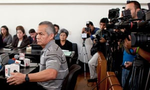 Guatemalan ex-soldier Pedro Pimentel Rios at his trial for his role in the Dos Erres massacre