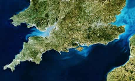 SATELLITE IMAGE OF GREAT BRITAIN south