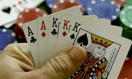 Chips, a deck of cards and a green mat, the poker set  Chips, a deck of cards and a green mat, the poker set