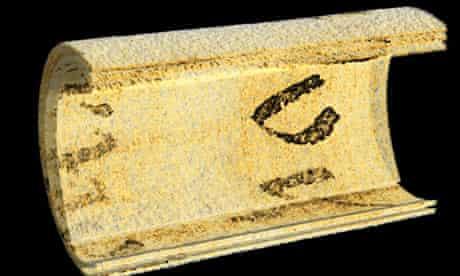 CT scan of Dead Sea scroll