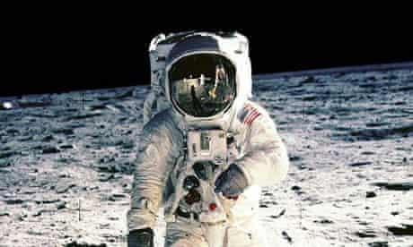 Neil Armstrong on the moon, 1969