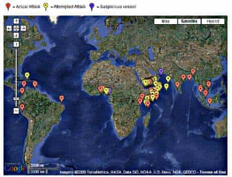 The ICC real-time piracy map