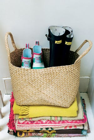 Milly Goodwin: Joules wellies in a Zara Home basket