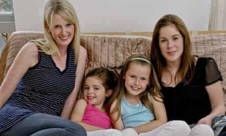Single mothers Ali Horsfall and Aoife Clarke with their daughters