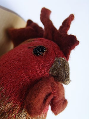 Craftidermy: Rooster, by Amelia Fever