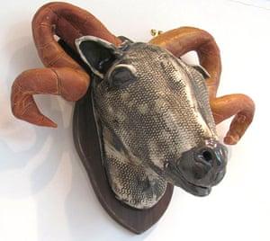 Craftidermy: Ceramic ram's head, by Fiona Bates