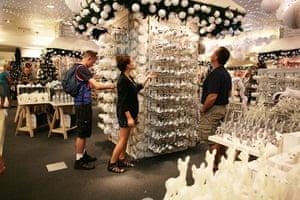 Selfridges Christmas shop: Browsing in Selfridges Christmas shop