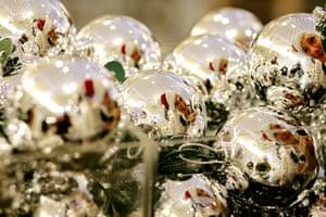 Selfridges Christmas shop: Baubles in Selfridges Christmas shop