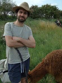 Tom Cox on an alpaca trek