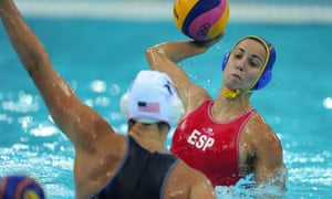 Spain v USA water polo gold medal match at London 2012