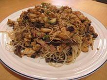 Delia Smiths's Singapore noodles.