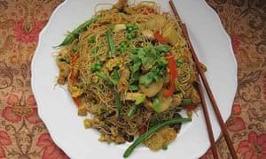 Perfect Singapore noodles.