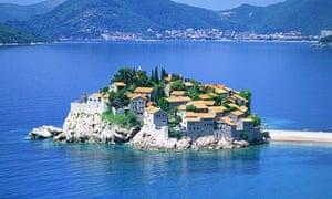 Eastern promise … Sveti Stefan, Montenegro.