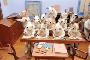 Potters Museum : Rabbits' Village School, c 1888.
