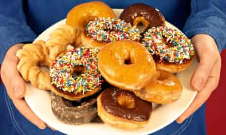 Sweet surrender … a plate of donuts.