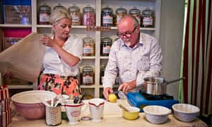 Kitty Hope and Mark Greenwood make caramel lollies with sherbet dippers at their shop in Covent Gard