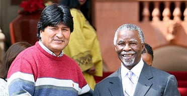 Evo Morales, his favourite jumper and Thabo Mbeki