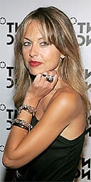 Stylist Rachel Zoe arrives to the launch of Mont Blanc's first Women's jewelry collection party hosted by actress Selma Blair at Cain October 11, 2005 in New York City