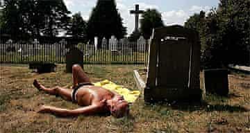 Sunbathing / hot weather / heat wave