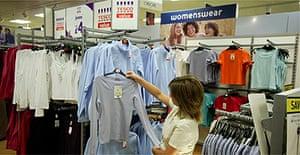 Clothes shopping in Tesco