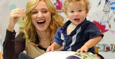 Madonna reading children's books