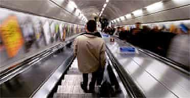 Escalator in the tube / underground