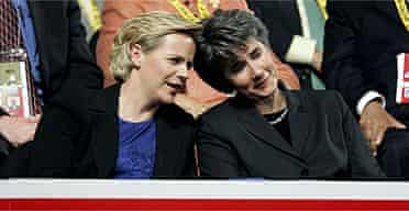 Mary Cheney (L) with her partner, Heather Poe