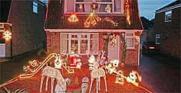 House with Christmas lights / Christmas decorations
