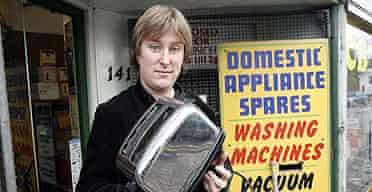 John Harris with his broken toaster