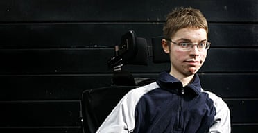 Nick Wallis, confined to a wheelchair due to his Muscular Dystrophy