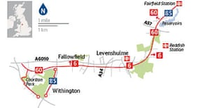 Cycling map: Fallowfield Loop Line