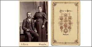 Wedding portrait cabinet, 1890s