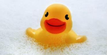 Rubber duck/ bubble bath