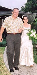Kaui and Fred on her wedding day