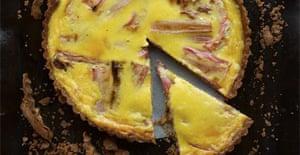 Rhubarb and custart tart