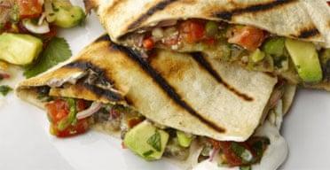 The new vegetarian: quesadilla