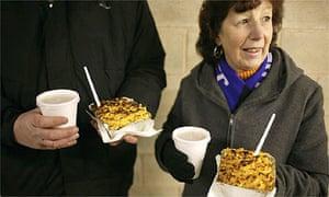 Football food - pie at Kidderminster Harriers FC